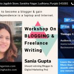 Workshop on Blogging and Freelance Writing