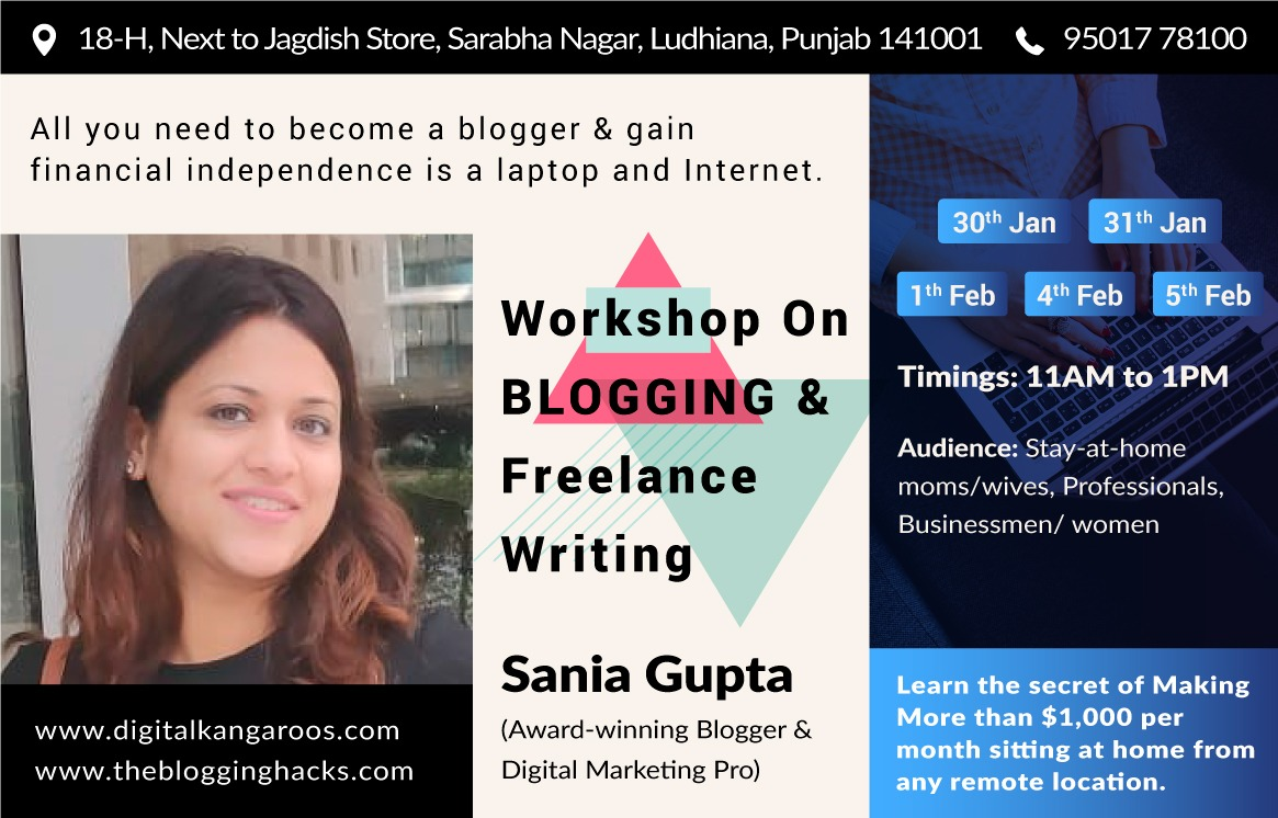 Blogging Workshop by Sania Gupta